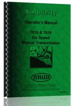 Operators Manual for Simplicity 7016 Lawn & Garden Tractor
