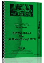 Service Manual for Simplicity all Walk Behind Tiller