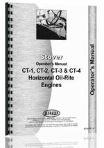 """Operators Manual for Stover CT-1, CT-2, CT-3, CT-4 Engine"""