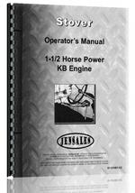 Operators Manual for Stover KB-1-1/2 Engine