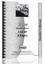 Operators Manual for Stover K-1-1/2 Engine