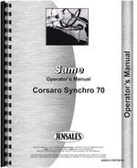 Operators Manual for Same Corsaro 70 Tractor