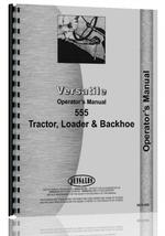 Operators Manual for Versatile 555 Tractor