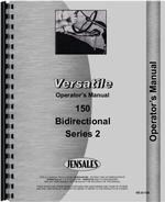 Operators Manual for Versatile 150 Tractor