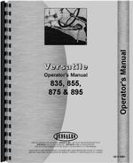 Operators Manual for Versatile 855 Tractor
