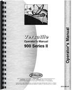 Operators Manual for Versatile 900 Tractor