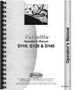 Operators Manual for Versatile D118 Tractor