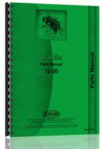 Parts Manual for Wallis 12-20 Tractor