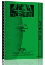 Service Manual for Wallis 12-20 Tractor