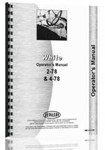 Operators Manual for White 2-78 Tractor
