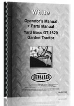 Operators Manual for White GT-1620 Lawn & Garden Tractor