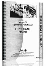 Operators & Parts Manual for White FR-18C Tractor