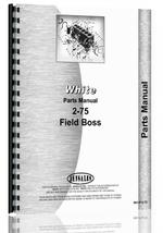 Parts Manual for White 2-75 Tractor
