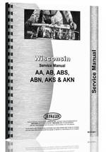 """Service Manual for Wisconsin AA, AB, ABS, ABN, AK, AKS, AKN Engine"""