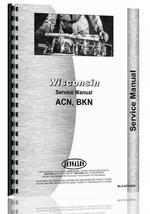 Service Manual for Wisconsin BKN Engine