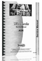 Service Manual for Wisconsin AGN Engine