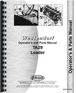 Operators & Parts Manual for Westendorf TA-29 Loader Attachment