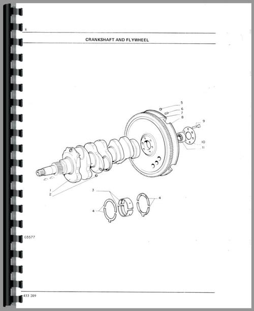 Parts Manual for White 1250A Tractor Sample Page From Manual