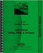 Operators Manual for White 1255 Tractor