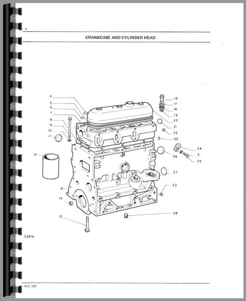 Parts Manual for White 1255 Tractor Sample Page From Manual