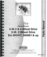 Parts Manual for White 2-35 Tractor