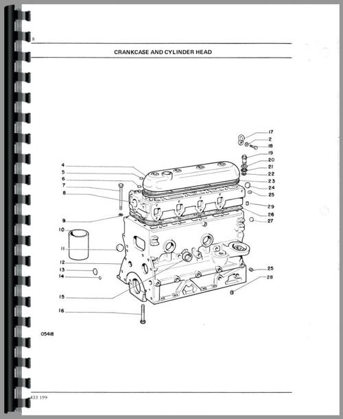 Parts Manual for White 1355 Tractor Sample Page From Manual
