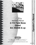 Operators Manual for White 2-110 Tractor
