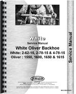 Service Manual for White 2-62-15 Backhoe Attachment