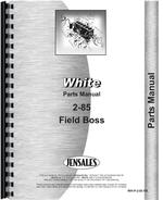 Parts Manual for White 2-85 Tractor