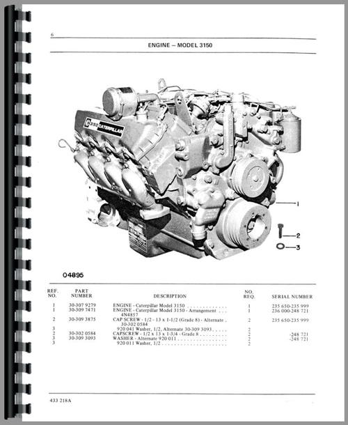 Parts Manual for White 2255 Tractor Sample Page From Manual