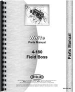 Parts Manual for White 4-180 Tractor