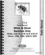 Parts Manual for White 4-78-15 Backhoe Attachment