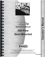 Operators Manual for White 598 Plow