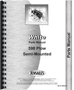 Parts Manual for White 598 Plow