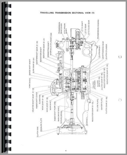 parts manual for yanmar ym186 tractor sample page from manual