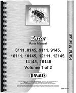 Service Manual for Zetor 10111 Tractor