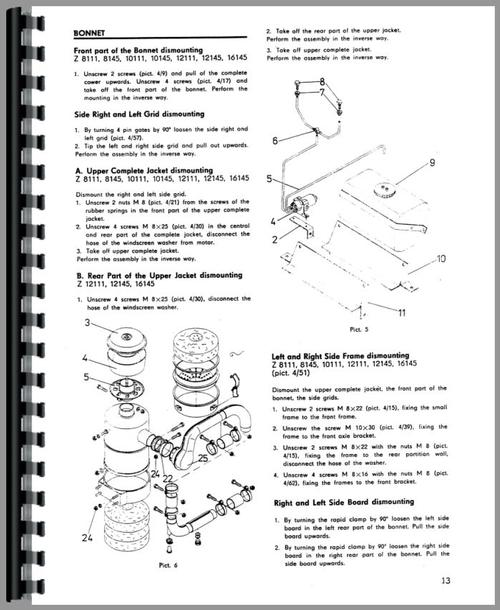 service manual for zetor 16145 tractor sample page from manual