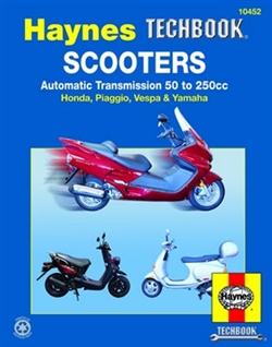 Haynes 10452 Scooters with Automatic Transmission 50 To 250 CC Techbook