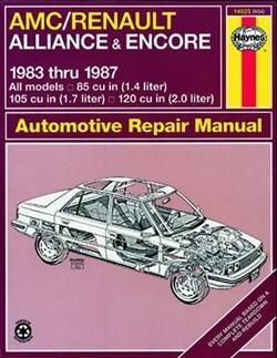 Haynes 14025 AMC/Renault Alliance and Encore 1983 thru 1987 Repair Manual