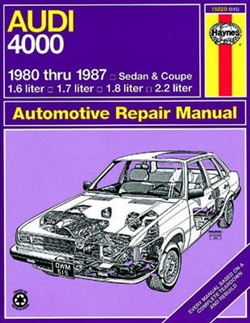 Haynes 15020 Audi 4000 (Sedan and Coupe) for 1980 thru 1987 Repair Manual