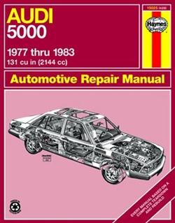 Haynes 15025 Audi 5000 with Gasoline Engines for 1977 thru 1983 Repair Manual