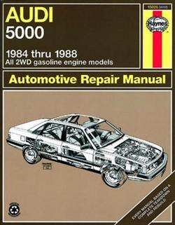 Haynes 15026 Audi 5000 (All 2WD gas engine models) for 1984 thru 1988 Repair Manual