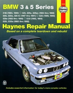 Haynes 18020 BMW 3 & 5 Series 1984 thru 1992 Repair Manual