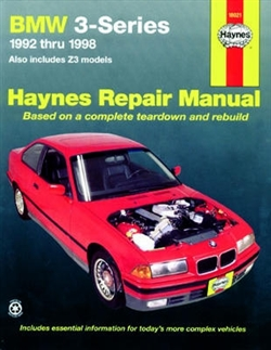 Haynes 18021 BMW 3 Series for 1992 thru 1998 Repair Manual