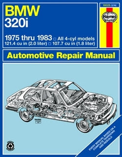 Haynes 18025 BMW 320I 4 Cylinder Repair Manual for 1975 thru 1983