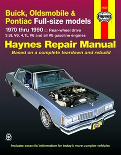Haynes 19025 Buick Repair Manual for 1970 thru 1990