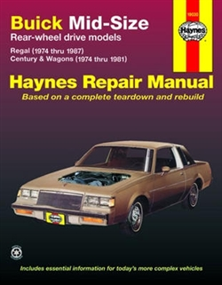 Haynes 19030 Buick (1974 thru 1987) and (1974 thru 1981) Repair Manual