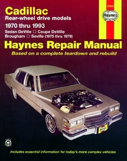 Haynes 21030 Cadillac Rear-Wheel Drive Gasoline Engine Repair Manual for 1970 thru 1993