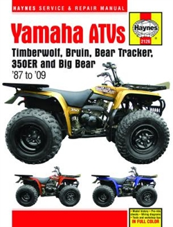 Haynes 2126 Yamaha YFB and YFM ATVs Repair Manual covering for 1987 thru 2009
