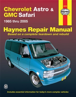 Haynes 24010 Chevy Astro and GMC Safari Repair Manual for 1985 thru 2005